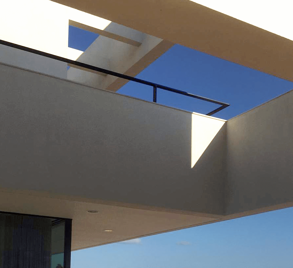 structural framing and glass connection of newbuild construction and monument